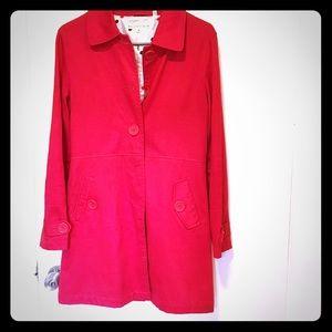 Max Studio red pea coat